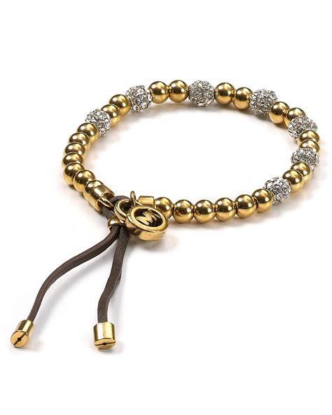 michael kors beaded bracelet michael kors pave beaded bracelet bloomingdale s
