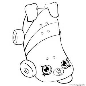 Skateboard for girls shopkins season 5 coloring pages free printable