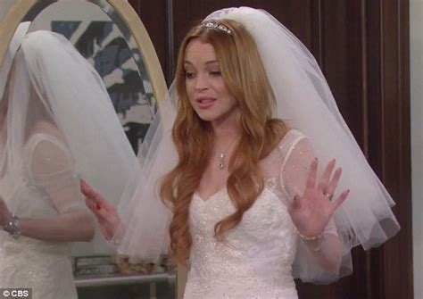 Lindsay Lohan Has Plans For Future Wedding Gown by Lindsay Lohan Hams It Up In Comic Cameo On 2