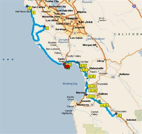 map monterey ca monterey bay map california my