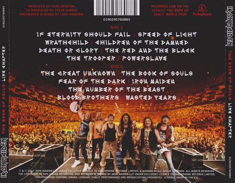 Cd Iron Maiden The Book Of Soul 2cd Original iron maiden the book of souls live chapter 2017 2cd parlophone 0190295760885 avaxhome