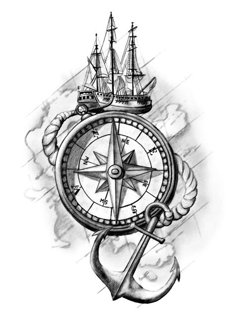 pencil drawings tattoo designs compass design by cassiemunson on deviantart
