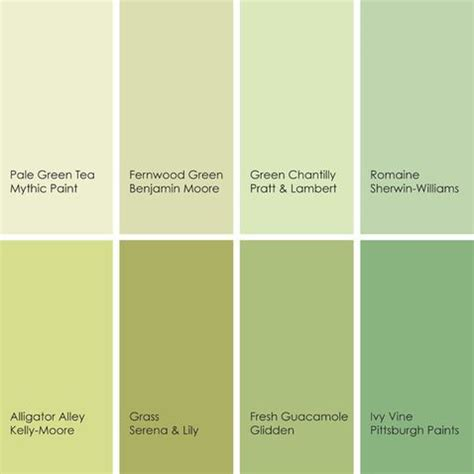 Shades Of Green Paint Colors 2