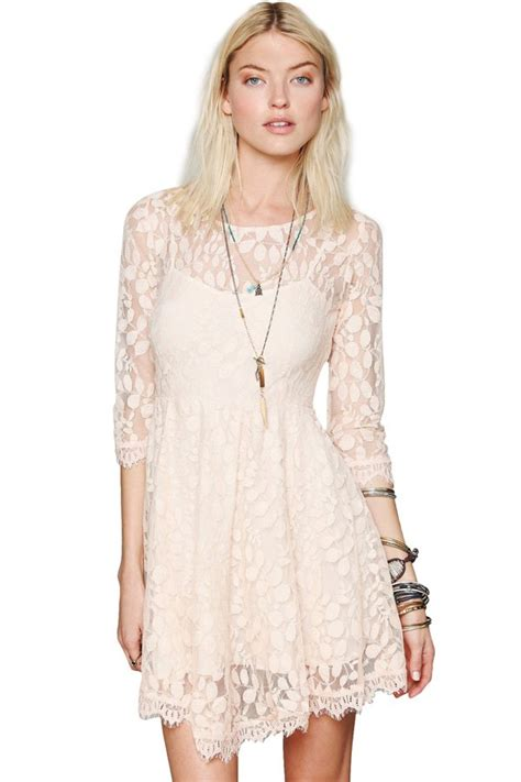 leaf pattern dress leaf pattern 3 4 sleeve lace dress apricot lace dresses