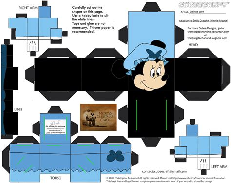 Minnie Mouse Papercraft - xmas8 5 emily cratchit cubee by theflyingdachshund on