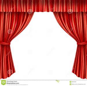 White Velvet Curtains Theater Curtains Isolated Stock Vector Image 46945398
