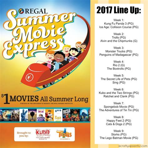 up film institute schedule 1 movies for 2017 summer movie express a crafty spoonful