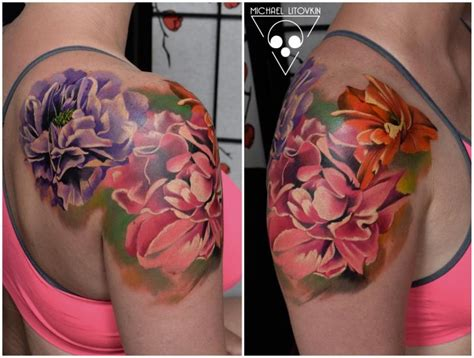 flower tattoos realistic pictures to pin on pinterest