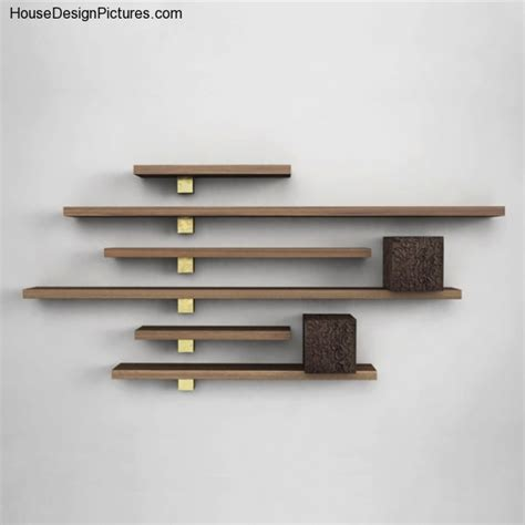 shelf design wood wall shelves housedesignpictures com