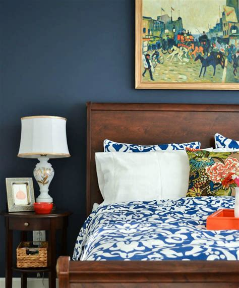 Navy Blue Bedside Ls How To Style Your Bedside Table