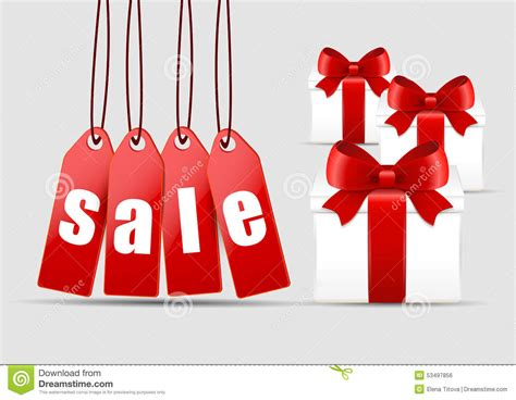 christmas sale and gifts stock vector image 53497856