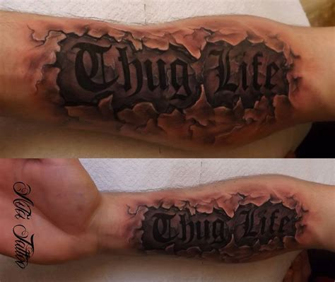 thug life tattoo thug by curtisblade on deviantart