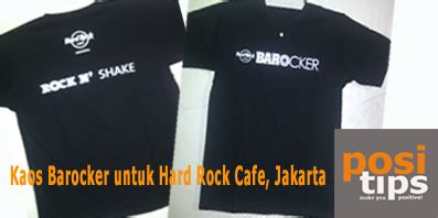 Kaos Rock Cafe Jakarta Hitam mau pesan kaos seragam kaos kelas kaos kelompok