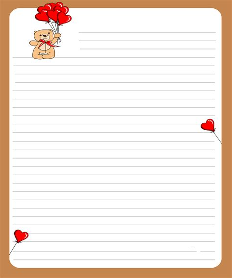 image gallery love letter template