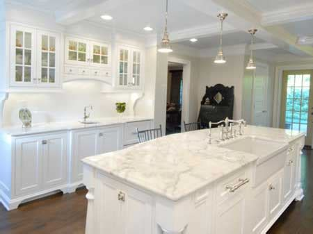 White Kitchen Cabinets With White Marble Countertops granite and marble most popular modern kitchen cabinet