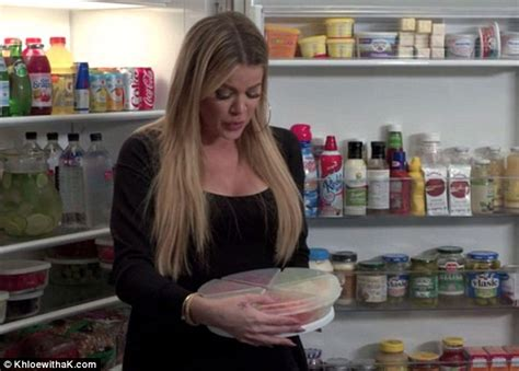 khloe kardashian organization khloe kardashian reveals her super organised fridge with