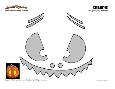 pumpkin pattern template lonely paper designs freebies pumpkin carving templates
