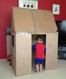 Cardboard House How To Build A Playhouse With Spare Cardboard Boxes My