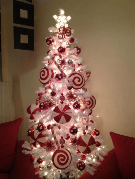 candy cane theme christmas tree christmas pinterest