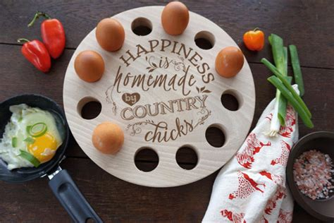 Farm Fresh Eggs Shelf by Wooden Egg Rack Engraved Egg Storage Tray Farm Fresh Egg