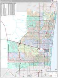 broward county fl wall map premium style by marketmaps