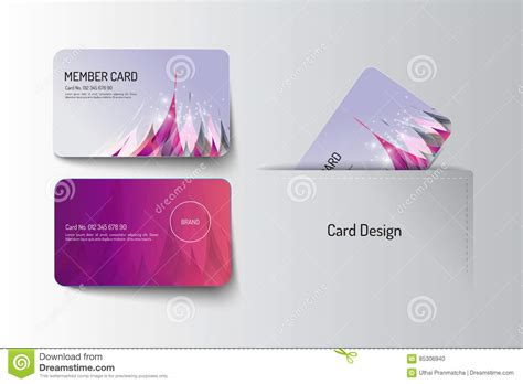 member card design template vip card template with logo and abstract vector