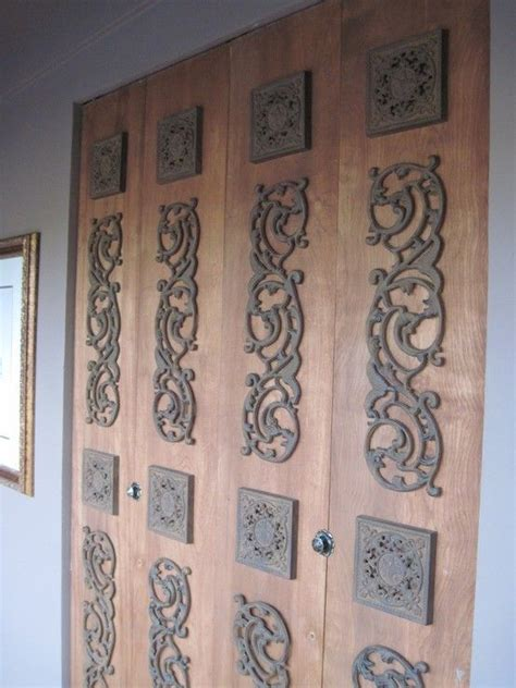 Disguise Ugly Bi Fold Closet Doors For The Home Pinterest Decorating Closet Doors Ideas