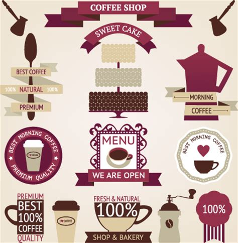 banner design coffee shop restaurant menu stock vector 699560560 coffee menu labels and ribbon banner vector free vector in