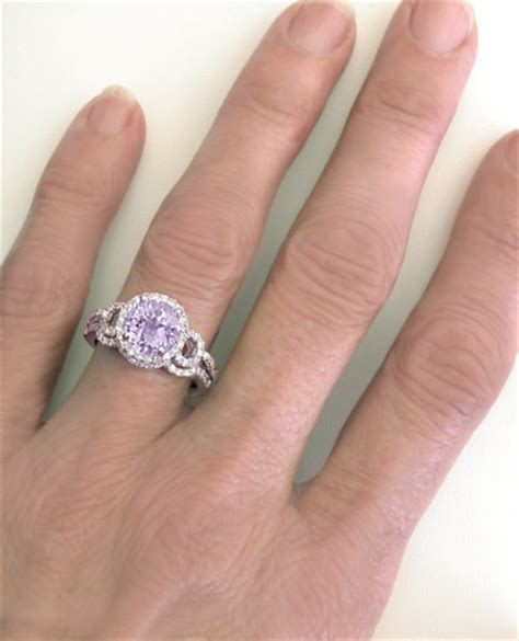 light amethyst engagement rings checkerboard faceted light amethyst and halo