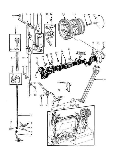 kenmore sewing machine parts diagram needle bar diagram parts list for model 15816250 kenmore