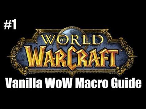 Vanilla Wow Detox Macro by Vanilla Wow Macro Guide 1 Armor Resistances Macro