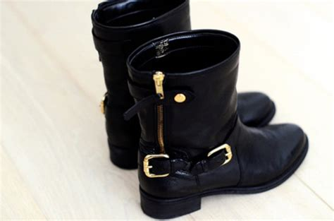 shoes boots black gold leather leather boots biker
