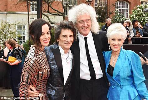 brian may family olivier awards 2018 ronnie wood steps out with wife sally