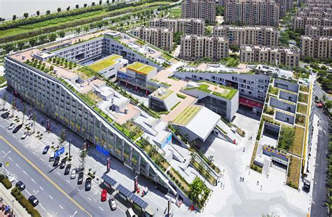 Labyrinthine Green Roofed Hangzhou Duolan Complex Combines a Mall With Urban Homes in China