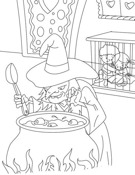 Desenho de Bruxa preparando cozido para colorir - Tudodesenhos
