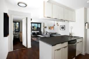 Decorating Small Studio Apartments open kitchen dining living room contemporary kitchen