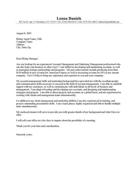 account executive cover letter exles account manager cover letter resume cover letter