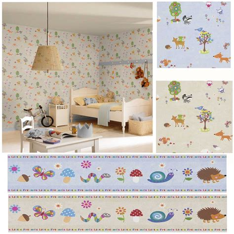 baby bedroom borders woodland animals wallpaper borders bedroom nursery