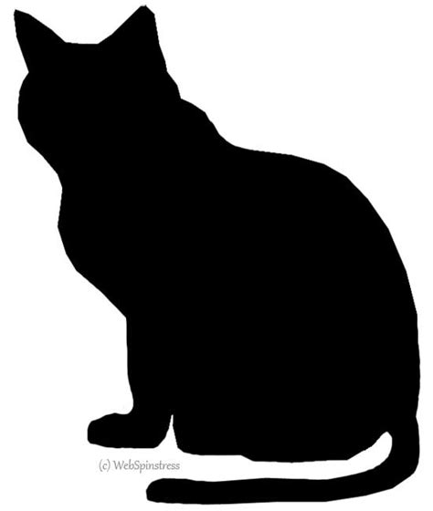 cat silhouette pattern clipart best