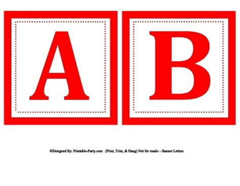 printable letters red small square printable alphabet letters printable banner