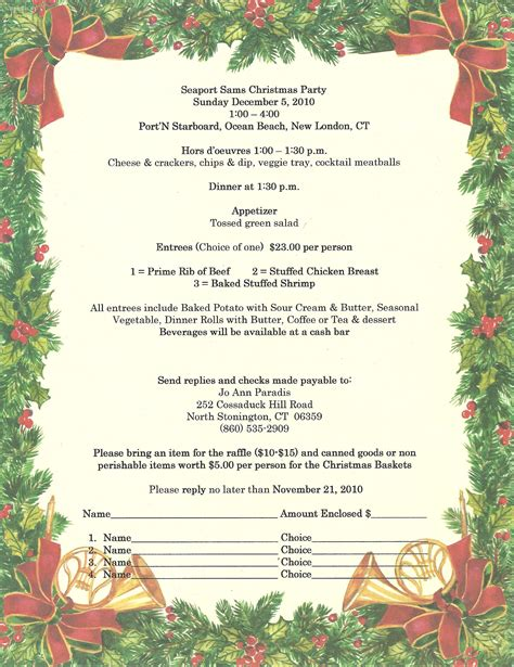 christmas party invitation etiquette invitation templates