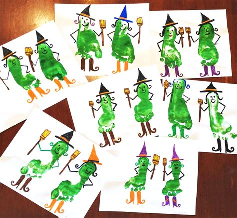 witch craft projects footprint witch craft for crafty morning