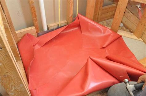 rubber bed sheets how to pour a shower pan one project closer