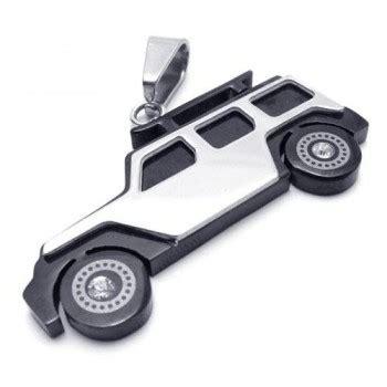 Jrep Choker Top mens black silver titanium jeep pendant necklace 15164 163 93 titanium jewellery uk