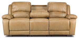 The Brick Leather Sofa Marco Genuine Leather Power Reclining Sofa Toffee The Brick