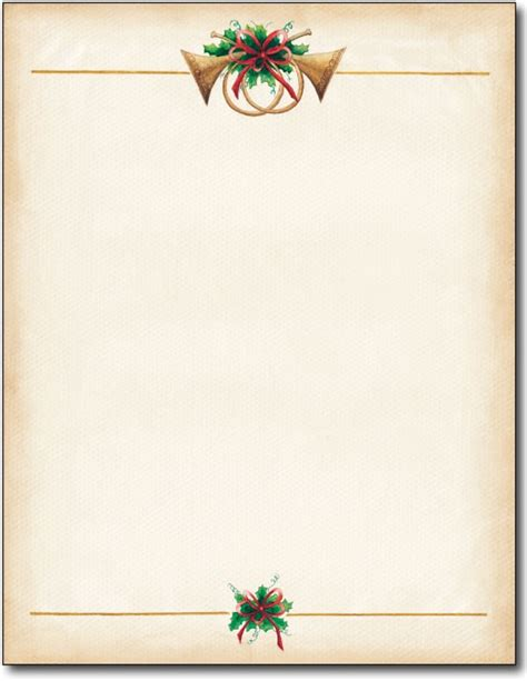 images of christmas letterhead antique horns christmas stationery 80 sheets