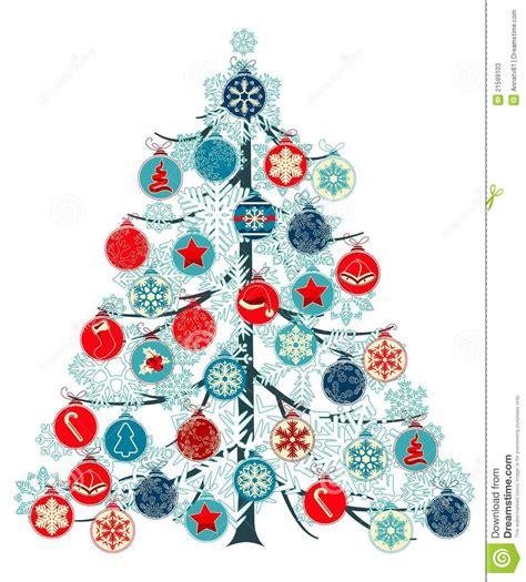 christmas tree made of balls stock photos image 21599103