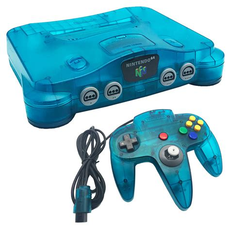 console nintendo 64 nintendo 64 blue console pre owned the gamesmen
