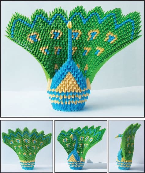 Origami Peacock Diagram - peacock origami by prosaix on deviantart