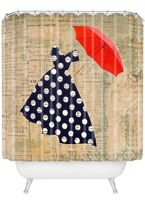 umbrella curtain red umbrella shower curtain for the home pinterest